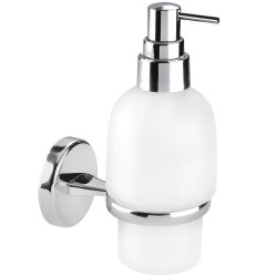 Wall mounted glass soap dispenser