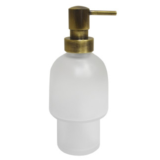 Dispenser bottle (glass) with button old brass OLD BRASS