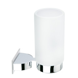Wall mounted glass tumbler