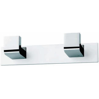 Percha doble CROMO-NEGRO