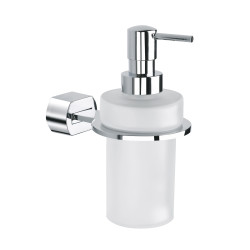 Wall soap dispenser glass