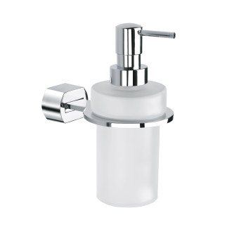 Wall soap dispenser glass CHROME