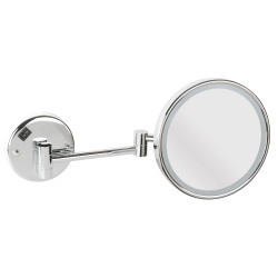 Magnifying led lighted mirror x5, 2 arms