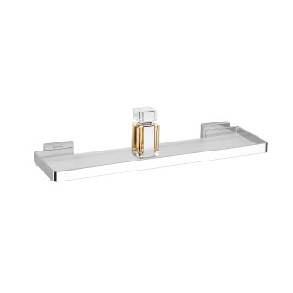 Methacrylate Flat shelf 55 cm.  CHROME
