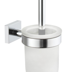 Wall mounted toilet brush holder (glass)