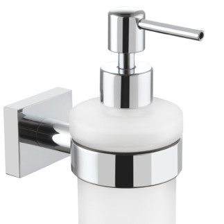 Wall mounted glass soap dispenser  CHROME