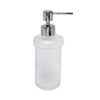 Dispenser glass bottle with chrome button  CHROME