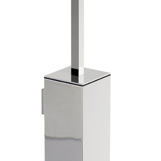 Square wall mounted toilet brush holder  CHROME