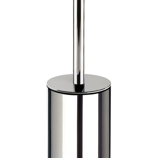 Round floor standing toilet brush holder  CHROME