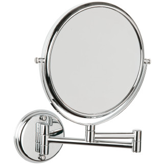 Magnifying mirror x5, 2 sides 2 arms CHROME