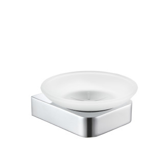 Wall mounted glass soap dish  CHROME